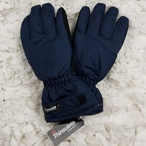 Thinsulate womens navy gloves